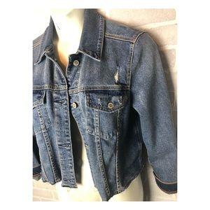 Hollister Crop Distressed Denim Jacket